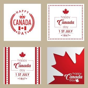 Cartão feliz do dia de canadá