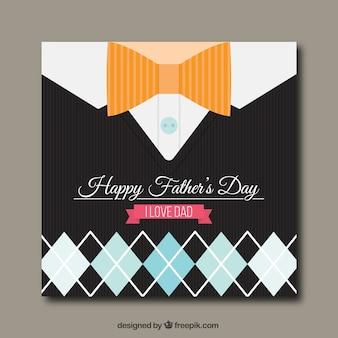 Cartão feliz do dia de pai com rhombus