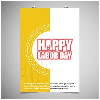 Cartão feliz do dia dos trabalhos