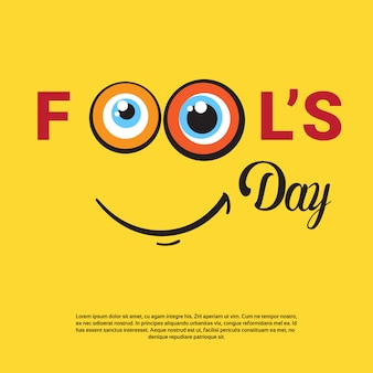 Cartão feliz do feriado do dia do tolo de abril