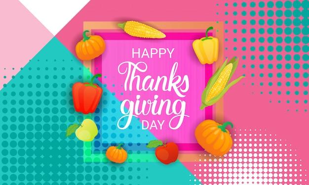 Cartão feliz do feriado do outono feliz do dia da