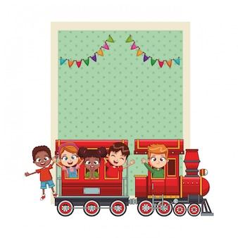 Cartão feliz dos miúdos do bithday