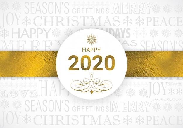 Cartão feliz ouro 2020