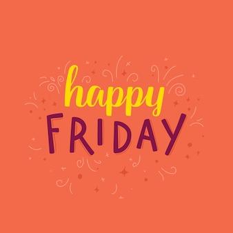 Cartão feliz sexta-feira
