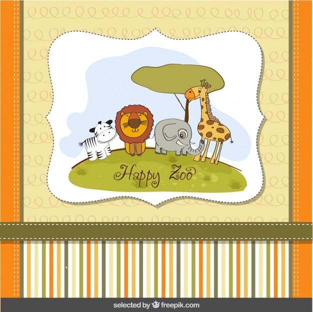 Cartão feliz zoo