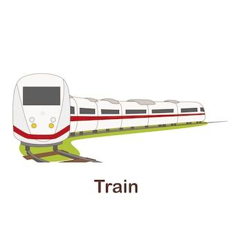 Cartão flash de vocabulário para crianças. treine para com a imagem do trem para (vocabulário para cefr: nível a1-a2)