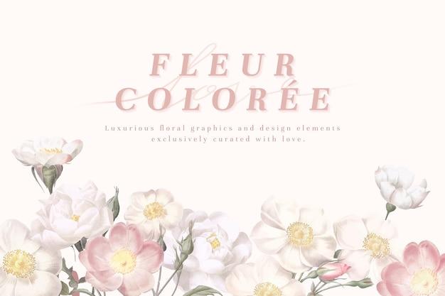 Cartão flor feminina