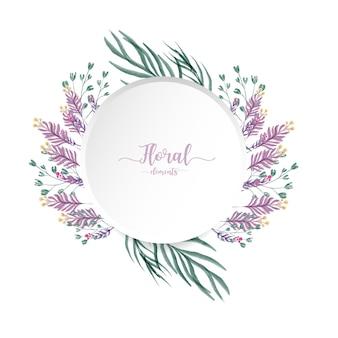 Cartão floral aquarela.