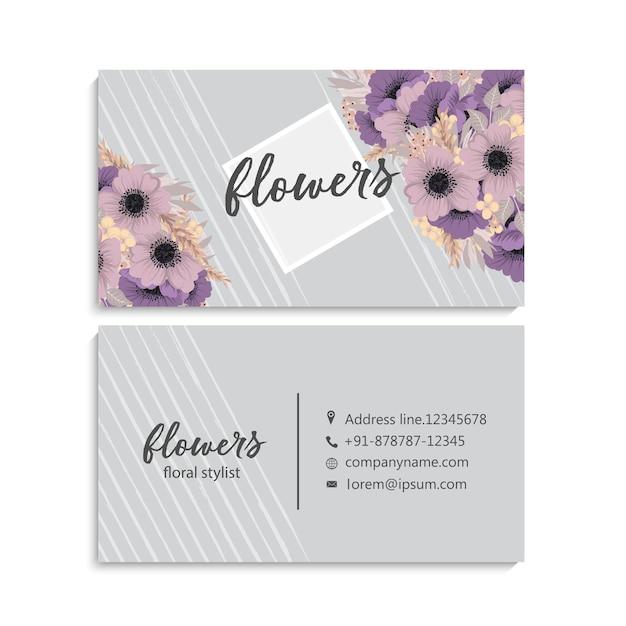 Cartão floral bonito