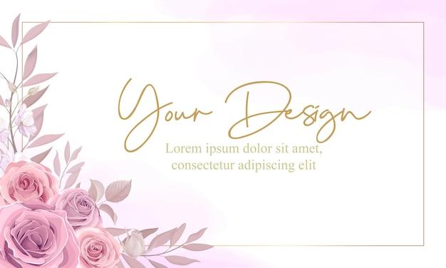 Cartão floral desenhado à mão