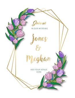 Cartão floral do convite do casamento