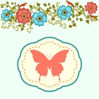 Cartão floral do verão
