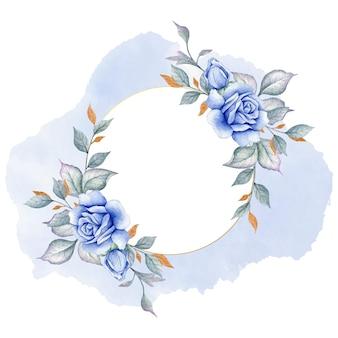 Cartão floral elegante feliz dia dos namorados com rosa Vetor Premium