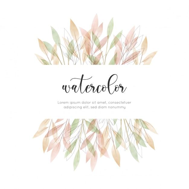 Cartão floral estilo boêmio em aquarela