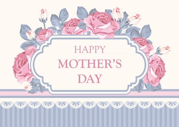 Cartão floral. feliz dia das mães