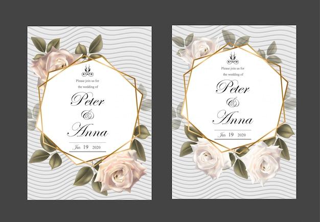 Cartão floral para casamento de convite e cartões