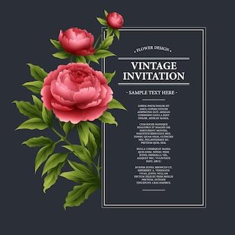 Cartão floral vintage de vetor.