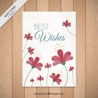 Cartão florido bonito