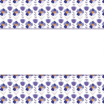 Cartão fofo com moldura floral