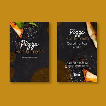 Cartão frente e verso de pizzaria