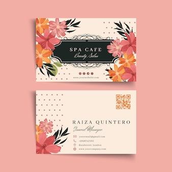 Cartão frente e verso para salão de beleza de moda