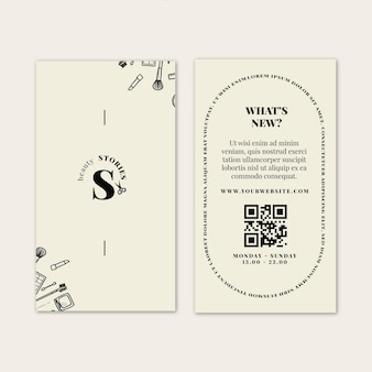 Cartão frente e verso para salão de beleza