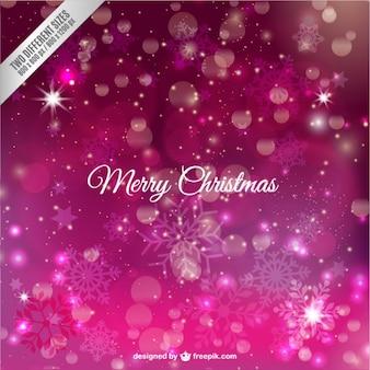Cartão fúcsia natal