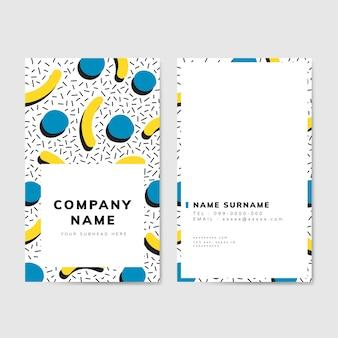 Cartão geométrico colorido do estilo de memphis
