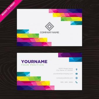 Cartão geométrico multicolorido