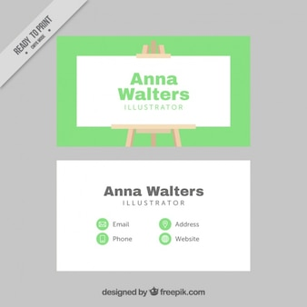 Cartão illustrator com lona