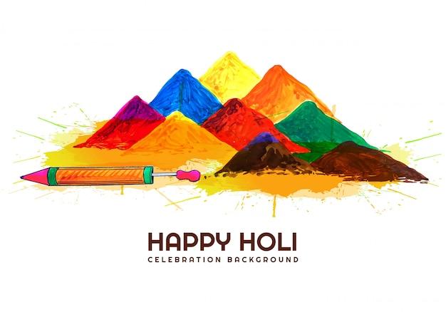 Cartão indiano das celebrações do festival holi