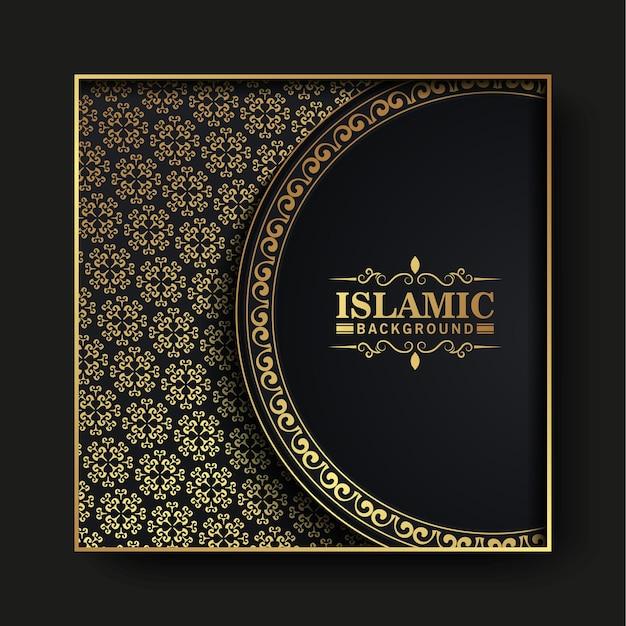 Cartão islâmico de luxo com conceito de mandala