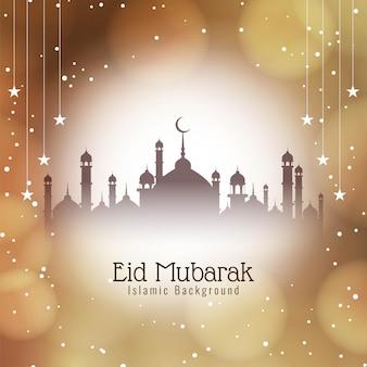 Cartão islâmico eid mubarak