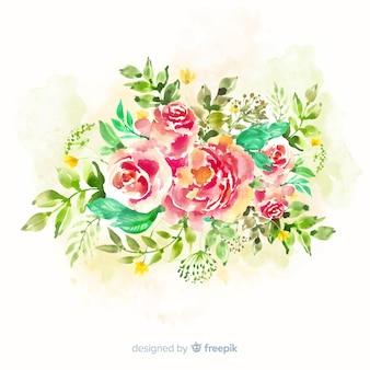 Cartão lindo buquê floral vintage