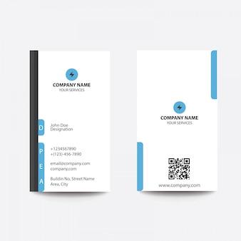 Cartão liso limpo moderno do azul do estilo