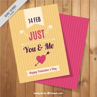 Cartão listrado por dia dos namorados