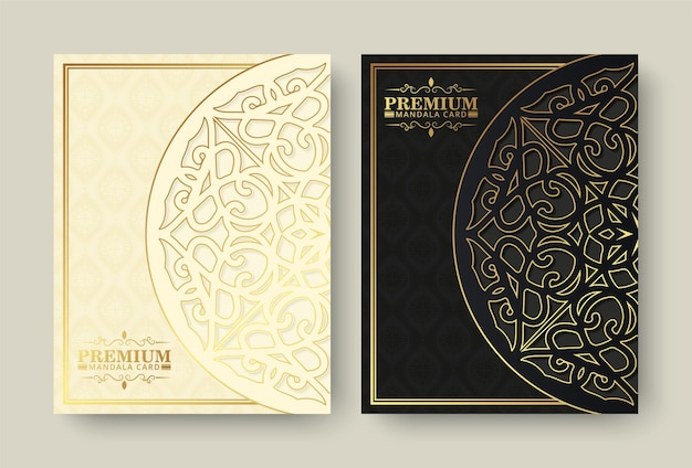 Cartão mandala de luxo