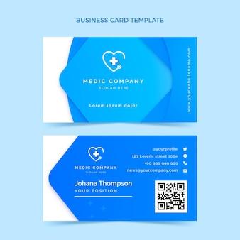 Cartão médico horizontal gradiente Vetor Premium