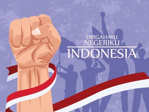 Cartão merdeka da indonésia