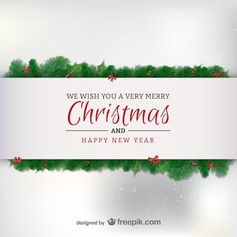 Cartão minimalista elegante do natal