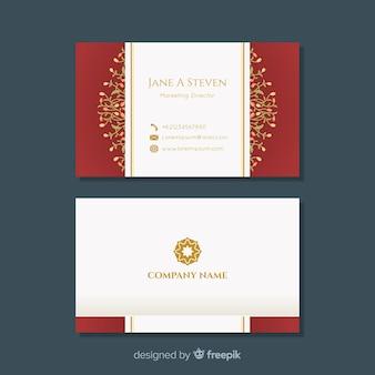 Cartão moderno com design floral