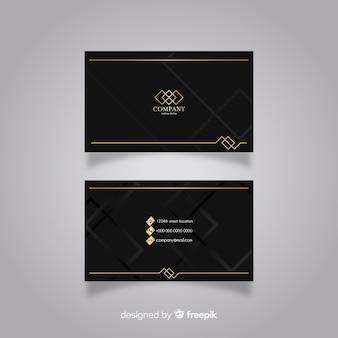 Cartão moderno com estilo elegante