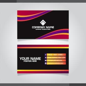 Cartão moderno com formas gradientes