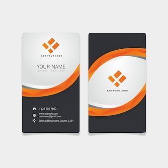 Cartão moderno de negócios laranja