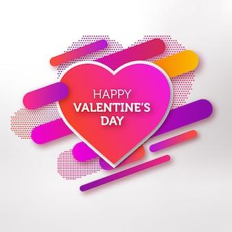 Cartão moderno do dia dos namorados com formas gradientes coloridos