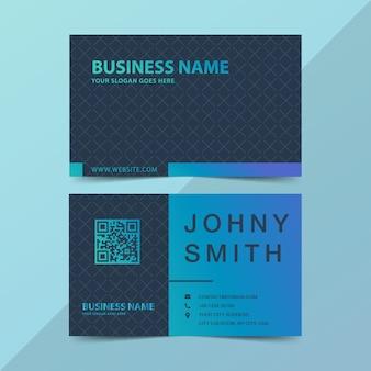 Cartão moderno em gradiente verde e azul