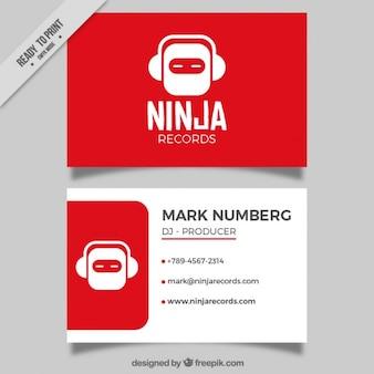 Cartão moderno estúdio de música vermelho