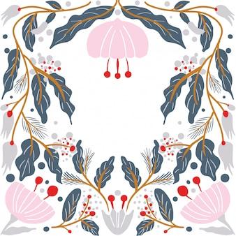 Cartão moderno floral