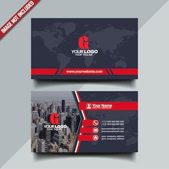 Cartão moderno nas cores pretos e vermelhos