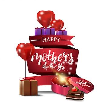 Cartão moderno para o dia das mães